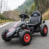 Carro elétrico infantil Dual-drive de quatro rodas inflável de borracha de borracha carro kart controle remoto carro elétrico para crianças andar em