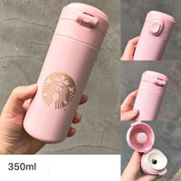2021 Starbucks Sakura Pink Stainless Steel Mugs Vcuum Flask Couple Water Coffee Cup Travel Drink Bottle Gift Product