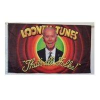 Biden Looney Tunes 3x5 Bandera, 150x90cm 100d Poliéster interior Al aire libre Haning Todos los países, Publicidad, Costura Doble