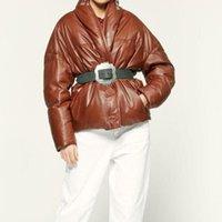 Women Faux Leather Coat Long Sleeve Autumn Winter Female Casual Jacket Women's &