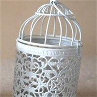 المعادن قفص العصافير الجوف الحديد خمر شمعة حامل الحديد المطاوع الديكور المنزل الزفاف رومانسية عيد إمدادات عيد الحب هدية عيد 316 R2