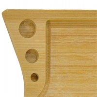 Bandeja laminadora de madera de bambú hecha a mano con 3 agujeros de cono con accesorios para fumar tabaco Roll su propio cono 931 R2