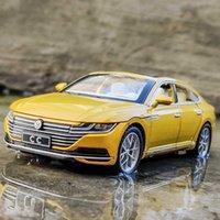 دييكاست 1: 32 فولكس واجن CC محاكاة سبائك سيارة نموذج سيارة الصوت البصري فتح بو للسيارة نموذج سيارة الديكور لعبة الأطفال سيارة