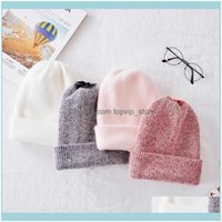 Caps Headwears Athletic Outdoor As Sports & Outdoorsgood Quality Fur For Women Beanies Knitted Cashmere Hat Autumn Solid Bonnet Femme Winter
