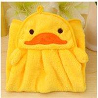 Serviette bébé bébé serviette bébé serviettes de bain bébé Toddler peluche peluche dessin animé animal torse suspendu serviette de bain pour enfant serviette bébé mignon 1127 x2