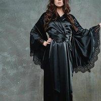 Lace Silk Nightdress Kimono Bride Womens Sleepwears Bridesmaid Bathrobe Beach Dress Sexy Lingerie Sleepwear Robe
