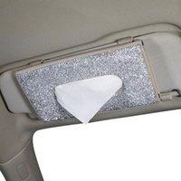 Auto-Gewebebox, eingelegter Diamant-Dekorations-Rack-Fahrzeug-Sonnenschirm-Aufbewahrungskarton für Automobilkästen Servietten