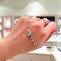S925 silver Original Rose Petals Link Bracelet fits for fanshion Jewelry DIY Making 599409C01 H6