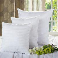 Yastık 2 adet Çekirdek El Interwoven Pamuklu Bez Kare Dikdörtgen Beyaz Yumuşak Ev Yastıklar 0.9kgpillow İç