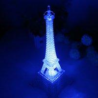 Valentinstag Romantische Beleuchtung Eiffelturm Bunte Nachtlichter Paris Tower LED Lights Creative Giftsa428