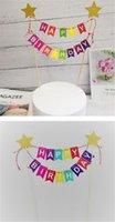 Factory assemblé de joyeux anniversaire gâteau Toppers Décoration avec bannière colorée pour enfants, hommes, fille convenant