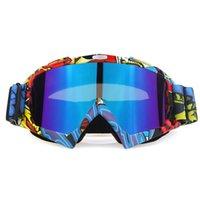 야외 안경 오토바이 보호 고글 사이클링 MX 오프로드 스키 스포츠 ATV Motocross Goggle을위한 atv 흙 자전거 레이싱 안경
