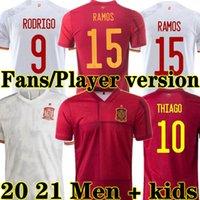 Morata 2021 2022 Espana Soccer Jersey Gerard Pedri Ferran Koke Sarabia Spagna 21 22 fan giocatore Versione Adama Ramos Thiago Gaya Camicia da calcio Camisetas de Futbol