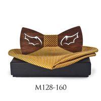Sistema de pañuelo de pañuelo de pajarita de madera para hombre Bowtie Wood hueco tallado escalofriante ropa de mujer bufanda corbata