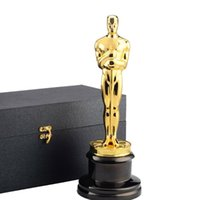 Decorative Objects & Figurines Trophy Real Gold Plated TV Movie Souvenirs Gift 2021 Zinc Alloy Awards 1:1 13.5inches Box Metal