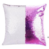12 colors Sequins Mermaid Pillow Case Cushion New sublimation blank pillow cases hot transfer printing DIY personalized gift DHB10379