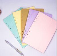 40 ورقة 5 ألوان A6 فضفاض ورقة المنتج الصلبة دفتر الملء الملء دوامة الموثق داخل الصفحة مخطط الحشو الداخلية الأوراق المدرسية مكتب اللوازم