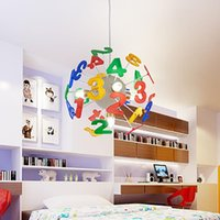 Pendant Lamps Numbers Counting Letters Alphabet Hanging Lights Cartoon Creative Modern LED Pending Lamp Chandelier For Children Bedroom Stus