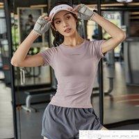 Topout Top Womens Man Tight Быстрые сушки Упражнения с короткими рукавами Футболка Slim Fit Дышащий бегущий тренировка йога Футболка для йоги Футбол Джерси
