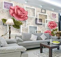 Wallpapers 3D Embossed Rose Flower Po HD Mural For Living Room Wall Paper Rolls Painting Decor CustomAny Size Sticker