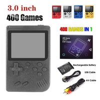 Portable Handheld video Game Console Retro 8 bit Design 3-inch LCD 400 Classic Games -Supports Two Players AV Output 400-In 1 Pocket Gameboy