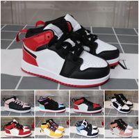 Tamanho 26-35 Juventude Kids Basketball Tênis Nascido Bebê Criança Criança Treinadores Pequenos Big Boys Meninas Sneaker