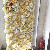 장식 꽃 화환 SPR 4FT * 8FT 벽면 배경은 아치 테이블 러너 인공 꽃 장식 배열 무료 shpping