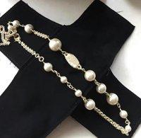 Женщины дизайнерские ювелирные изделия жемчужные цепные орбиты ожерелье ключицы колье ожерелья для подарка с специальной коробкой хорошая квалификация