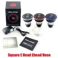 Hot Square E Head Ehead Hose Kit Mini Shisha картридж бешеный Ehookah одноразовый кальян 2400mah Vaporizer 8ML головки