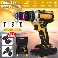 Professiona Electric Drills Drillpro Screwdriver Impact Drill Mini Wireless Power Driver DC Lithium-Ion Battery Home DIY Tool