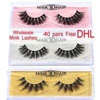 Free DHL 100 Pairs 3d Mink Lashes Wholesale 100% False Eyelashe Lot Natural Thick Long Fake Makeup Extension Whole Sale MB- A1