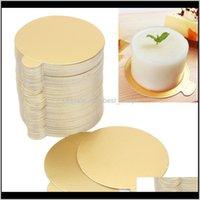 Backformen Küche, Essbar Home GardGold Pappe Mousse Papierkuchen Tablett Pad Halter Rechteckige Basis Board of Backwerkzeuge 100pcs / lot