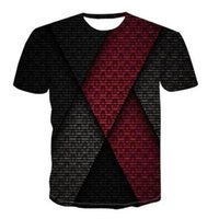 Men's T-Shirts Summer Fashion 3D Printing Short-sleeved T-shirt Casual Round Neck Fun Rotating Pattern Street Shooting