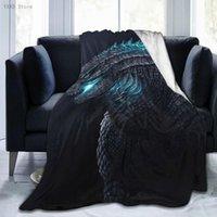 Blankets Godzillas 3D Cartoon Sherpa Blanket Warm Super Soft Flannel Office Nap Bedspread Sofa Bedding Plush Quilt Plaids 291794091