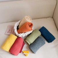 Sciarpa selvaggia a maglia color caramella per bambini coreana per ragazzi e ragazze, antivento e calda sciarpa di colore puro per ragazzi e ragazze