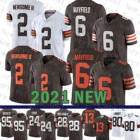 2021 Nuevos Clevelands Mens Brown American Football Jersey Mujeres 2 Greg Newsome II Juveniles 6 Baker Mayfield 95 Myles Garrett 24 Nick Chubb 28 Jeremiah Owusu-Koramoah