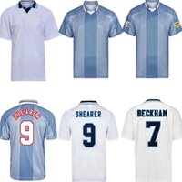 Retro 1998 90 96 97 98 Beckham Owen Home Away Jersey Gascoigne Shearer Southgate Classic Vintage 1990 1997 Old Calssical
