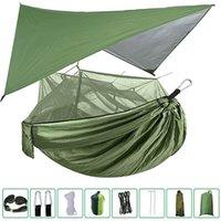 Tendas e abrigos portátil camping hammock toldo mosquito à prova de mochila ao ar livre viagem praia caminhadas aéreas mosquiteiro net tenda impermeável c