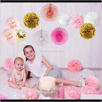 Fengrise Its A Birthday Paty Decoration Baby Shower For Pink Paper Flower Ball Decor Babyshower Wmtsgt Jzdb9 Other Event 8Mnb0