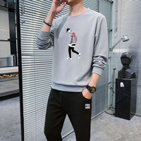 tracksuits hoodies sweatshirts Spring and autumn men's Korean sportswear trend with handsome casual suit two piece VJAJ
