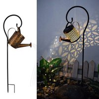 Watering Can Solar Lamp Garden Landscape Path 36LED String Lights Stake For Yard Lawn Art Outdoor Home Decorations