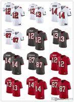 Erkek Kadın Gençlik 14 Chris Godwin 12 Tom Brady 87 Rob Gronkowski 13 Mike Evans Kırmızı Beyaz Gri Futbol Forması