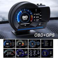 Head Up Display OBD2 + GPS Цвет светодиодной навигации HUD SPEED SPEEDMETER KITS