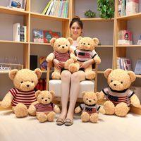 40cm 50cm Party Favor Soft Teddy Bears Plush Toys Fyllda djur Björn Dockor med Bowtie Kids Leksaker För Barn Födelsedag Presenter