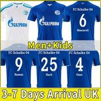 2021 2022 FC Schalke 04 Futbol Forması Huntelaar Uth Raman Hoppe Bentaleb 21 22 Jerseys Kutucu McKennie Erkekler Futbol Gömlek