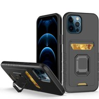 Hybrid Armor Kickstand Back Cover 2 in 1 Shockproof Phone cases Card TPU PC For iphone 13 pro max 12 With Stand Ring Case