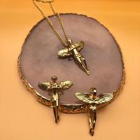 섬세한 천사 날개 매력 큐피드 Cherub Guardian 펜던트 목걸이 스테인레스 스틸 아기 체인 힙합기도 목걸이