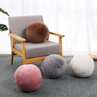 북유럽 구형 둥근 베개 공 덮개 솔리드 컬러 베개 코어 소파 침대 장식 쿠션 직경 30cm