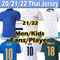 ایتالیا New 21/22 جيرسي Fans player version 2021 Italy soccer Jerseys IMMOBILE BARELLA INSIGNE CHIELLINI BERNARDESCHI ملابس نسائية ملابس رجالية كرة القدم جيرسي