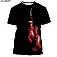 Jumeast Marka Mężczyźni Kobiety 3D Drukowane Koszulka Wiszące Rękawice Bokserskie Krótki Rękaw Moda T Shirt Sport Pullover Summer Tops Tees 210707